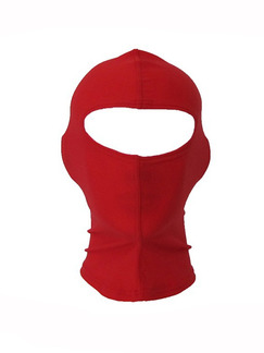Red Women Swimming Hood Sun Protection Face Mask Swimwear for Diving