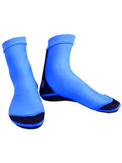 Blue and Black Men Contrast Linking Waterproof Shoes Swimwear