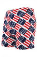Blue White and Red Plus Size Contrast US Flag Swim Shorts Swimwear for Swimming