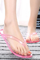 Pink PVC Open Toe Platform 1cm Slippers for Casual Beach