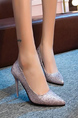Purple Silver Leather Pointed Toe Platform 9cm Stiletto Heel for Party Evening Cocktail
