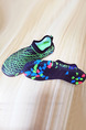 Black Green Colorful Men Contrast Outdoor Non-Slip Set Feet Breathable Shoes Swimwear