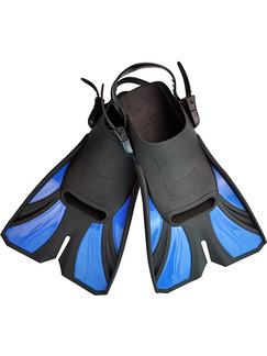 Black and Blue Unisex Contrast Set Feet Frog Fins Swimwear for Swimming Diving