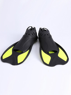 Black and Yellow Unisex Contrast Set Feet Frog Fins Swimwear for Swimming Diving
