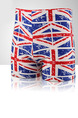 White Red and Blue Plus Size Contrast British Flag Swim Shorts Swimwear for Swimming
