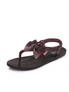 Black and Wine Red Leather Open Toe Platform 1cm Slippers for Casual