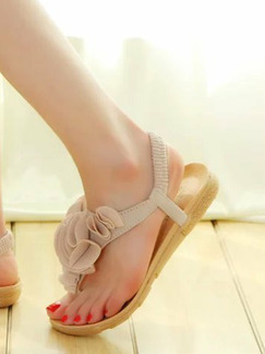 Brown Leather Open Toe Platform 1cm Sandals