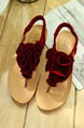 Red Leather Open Toe Platform 1cm Sandals
