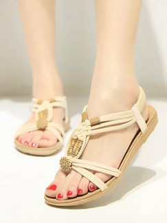 White and Brown Suede Open Toe Platform 2cm Sandals