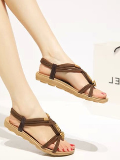 Brown Suede Open Toe Platform 2cm Sandals