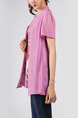 Purple and Colorful Plus Size Round Neck Seem-Two Linking Mesh Located Printing Floral Top for Casual Party