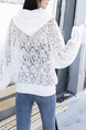 White Lace Floral Long Sleeve Jacket for Casual