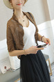Coffee Knitting Cutout Irregular Coat for Casual Office