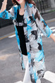 Colorful Slim Printed See-Through Coat for Casual