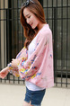 Colorful Loose Printed See-Through Scarves Long Sleeve Scarf for Casual