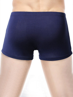 Blue Boxer Brief Modal and Spandex Underwear