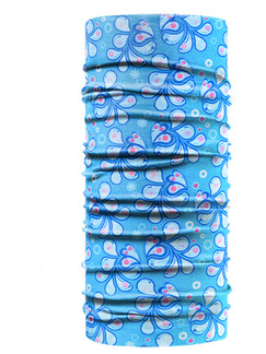 Blue Unisex Outdoor Riding Multi-Function Printed Polyester and Elasticity Scarves