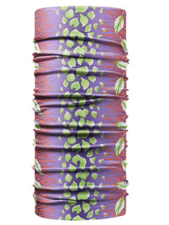 Green and Violet Unisex Outdoor Riding Multi-Function Contrast Printing Polyester and Elasticity Scarves