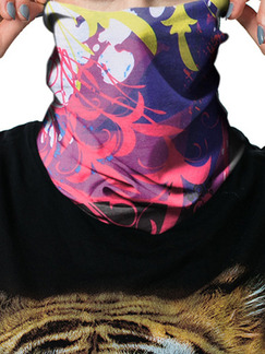 Colorful Unisex Outdoor Riding Multi-Function Located Printing Polyester and Elasticity Scarves