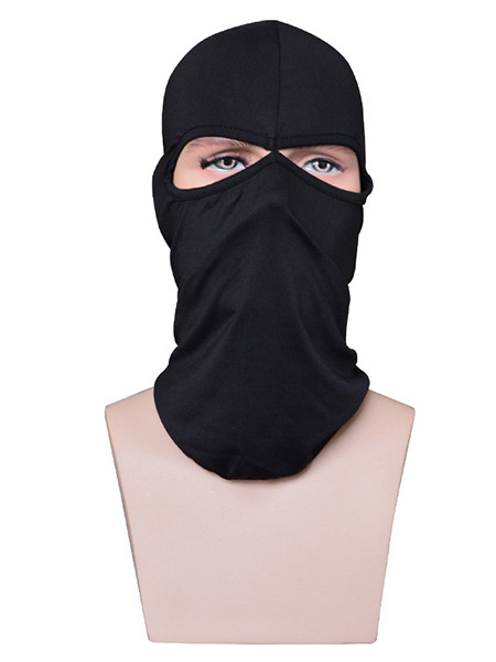 Black Adults Outdoor Sun Protection Windproof Quick Dry Polyester and Elasticity Riding Mask