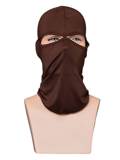 Brown Adults Sun Protection Windproof Quick Dry Polyester and Elasticity Riding Mask