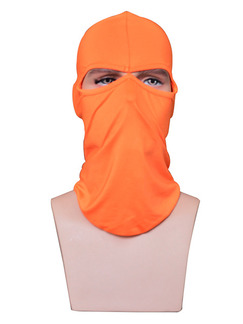 Orange Adults Outdoor Sun Protection Windproof Quick Dry Polyester and Elasticity Riding Mask