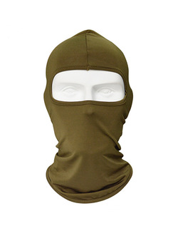 Brown Adults Outdoor Sun Protection Windproof Quick Dry Polyester and Elasticity Riding Mask