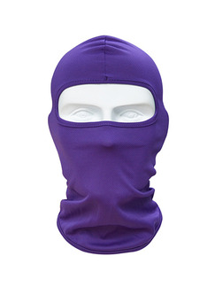 Violet Adults Outdoor Sun Protection Windproof Quick Dry Polyester and Elasticity Riding Mask
