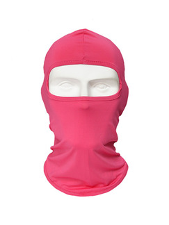 Pink Women Outdoor Sun Protection Windproof Quick Dry Polyester and Elasticity Riding Mask