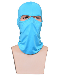 Sky Blue Adults Outdoor Sun Protection Windproof Quick Dry Polyester and Elasticity Riding Mask