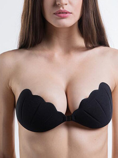 Black Shell Invisible Gather Buckle Bra