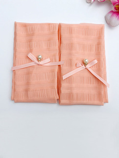 Pink Women Outdoor Driving Riding Sun Protection Butterfly Knot Polyester Arm Sleeves