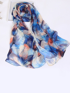 Colorful Women Contrast Printed Sun Protection  Polyester Scarf