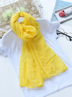 Yellow Women Sun Protection Air Conditioning  Cotton Scarf