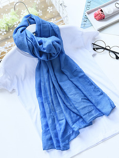 Blue Women Sun Protection Air Conditioning  Cotton Scarf