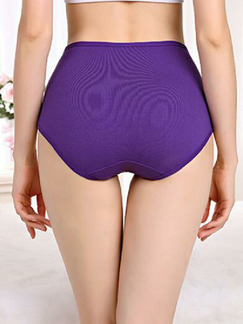 Dark Purple Printed High Waist Briefs Cotton Panty
