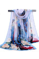 Colorful Printed Chiffon Polyester Scarf